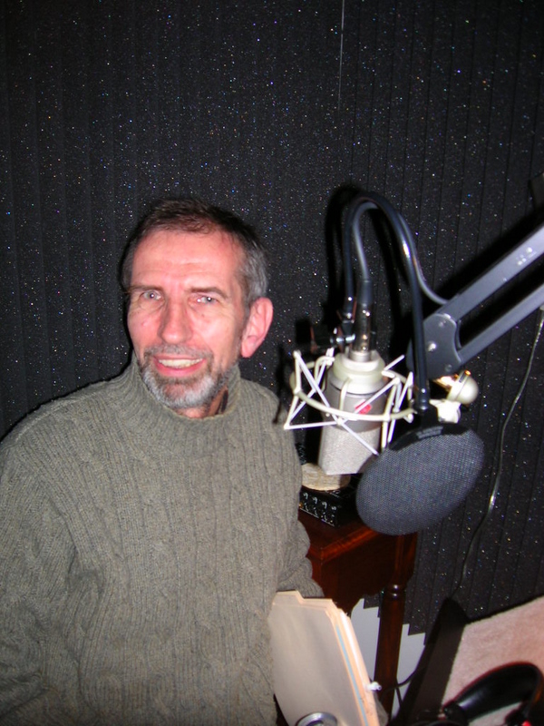 Paul in sound booth.